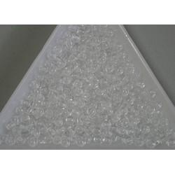 Margele sticla presata rotunde 3mm, cristal (5g)