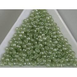 Margele sticla presata rotunde 3mm, verde transparent lucios(5g)