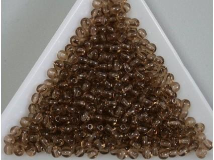 Margele sticla presata rotunde 3mm, maro transparent (5g)