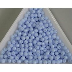 Margele sticla presata rotunde 3mm, albastru deschis opac (5g)