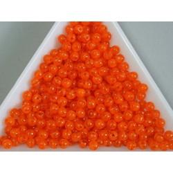 Margele sticla presata rotunde 3mm, orange semiopac (5g)