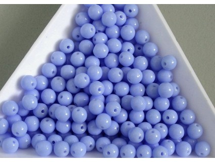 Margele sticla presata rotunde 4mm, albastru deschis opac (10g)