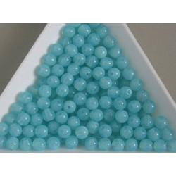 Margele sticla presata rotunde 4mm, albastru deschis opalizat semiopac (10g)
