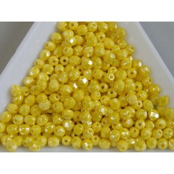 FP-03-312 margele firepolish 3mm, culoarea luster opaque yellow (100 buc)