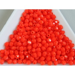 FP-03-311 margele firepolish 3mm, culoarea opaque orange (100 buc)