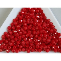 FP-03-308 margele firepolish 3mm, culoarea opaque red (100 buc)