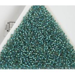 Toho R15-264, Inside-Color Rainbow Crystal/Teal Lined, 5g