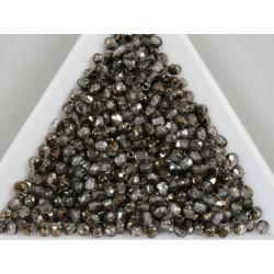FP 2.5 - margele firepolish 2.5mm, culoarea Crystal with Bronze Half-Coat (100 buc) CE-02-12