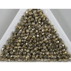 FP 2.5 - margele firepolish 2.5mm, culoarea Crystal Dorado (100 buc) CE-02-13