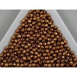 FP 2.5 - margele firepolish 2.5mm, culoarea matte brass gold (100 buc) CE-02-29
