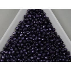 FP 2.5 - margele firepolish 2.5mm, culoarea metallic suede purple (100 buc) CE-02-36