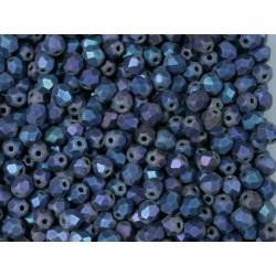 FP 4 - margele sticla Cehia firepolish 4 mm matte blue iris (100 buc) CE-04-371