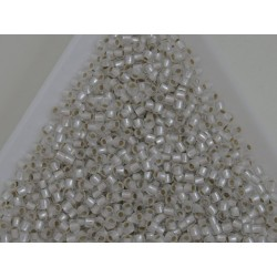 Toho R11-21F, Silver-Lined Frosted Crystal, 10g
