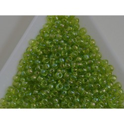 Toho R8-164, Transparent Rainbow Lime Green, 10g