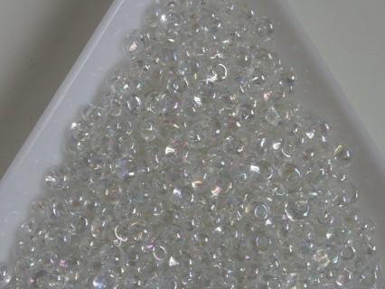 M03-161 margele Toho magatama 3mm, transparent rainbow Crystal, 10g