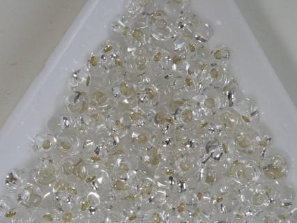 M04-21 margele Toho magatama 4mm, silver lined crystal, 10g
