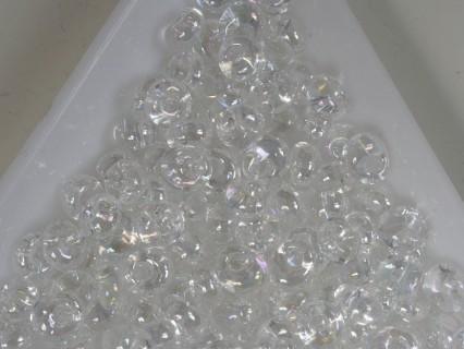 M05-161 margele Toho magatama 5 mm, transparent rainbow Crystal, 10g