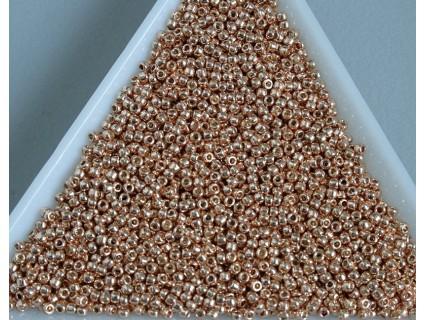 Toho R15-PF551, Permanent Finish - Galvanized Rose Gold, 5g