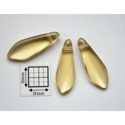 Margele sticla Cehia daggers cca 8 x 22 mm culoare topaz transparent (10 buc) D01.