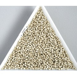 Toho R15-PF558F, Permanent Finish - Matte Galvanized Aluminum, 5g