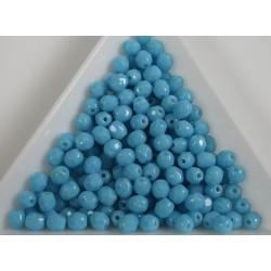 FP 4 - margele sticla Cehia firepolish 4 mm lt. opaque blue turquoise (100 buc) CE-04-376