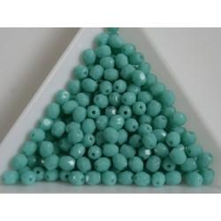 FP 4 - margele sticla Cehia firepolish 4 mm lt. opaque grren turquoise (100 buc) CE-04-378