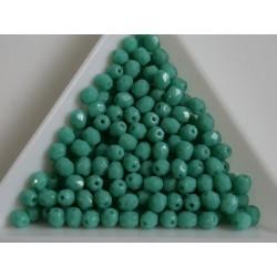 FP 4 - margele sticla Cehia firepolish 4 mm opaque grren turquoise (100 buc) CE-04-379