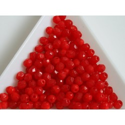 FP 4 - margele sticla Cehia firepolish 4 mm opal red (100 buc) CE-04-386