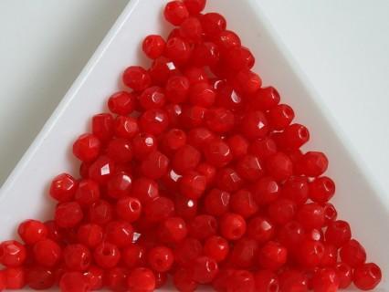FP 4 - margele sticla Cehia firepolish 4 mm opal red (100 buc) CE-04-386