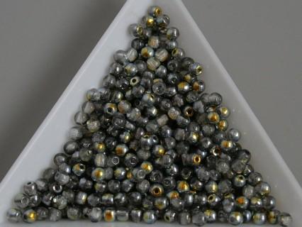 Margele sticla presata rotunde 3mm, cristal marea lustered (5g)