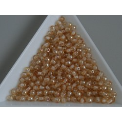 Margele sticla presata rotunde 3mm, cristal topaz lustered (5g)