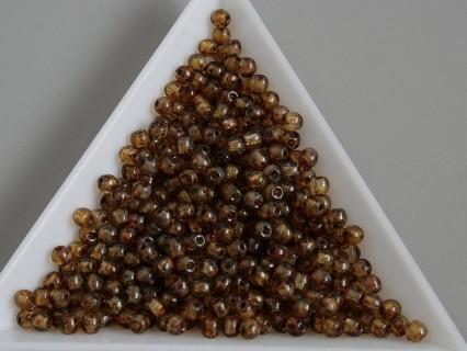 Margele sticla presata rotunde 3mm, cristal travertine (5g)