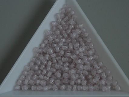 Margele sticla presata rotunde 3mm, cristal - lt. ametyst lustered(5g)