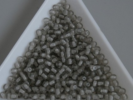 Margele sticla presata rotunde 3mm, black diamond (5g)
