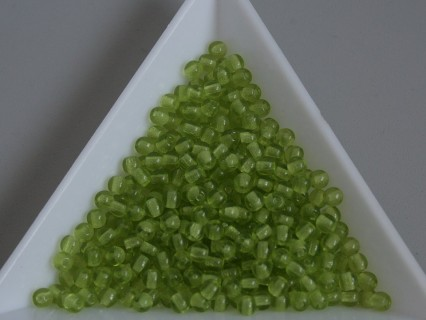 Margele sticla presata rotunde 3mm, transparent mint (5g)