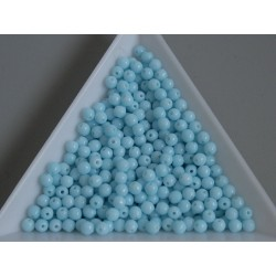 Margele sticla presata rotunde 3mm, opaque lt. blue turquoise (5g)