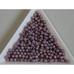 Margele sticla presata rotunde 3mm, opaque vega ceramic luster (5g)
