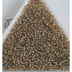 Toho R15-994, Gold-Lined Rainbow Crystal, 5g