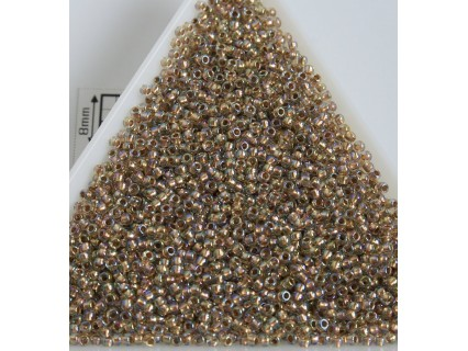 Toho R15-994, Gold-Lined Rainbow Crystal, 5g