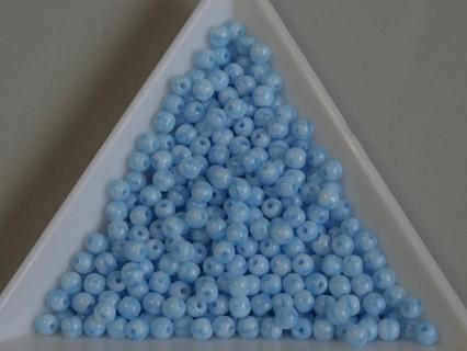 Margele sticla presata rotunde 3mm, opaque blue (5g)