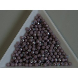 Margele sticla presata rotunde 3mm, amethyst AB luster (5g)