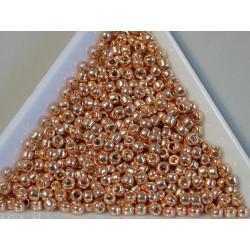 Toho R8-PF551, Permanent Finish - Galvanized Rose Gold, 5g
