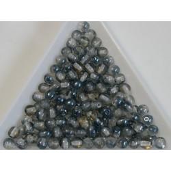 Margele sticla presata rotunde 4mm, crystal montana blue luster (10g)
