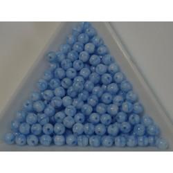 Margele sticla presata rotunde 4mm, opaque blue luster (10g)