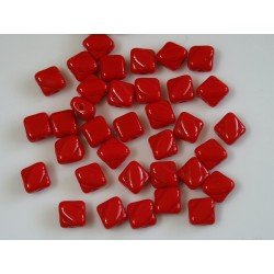 Margele sticla Cehia silky 6 mm, opaque red (10 buc)
