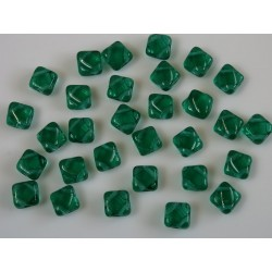 Margele sticla Cehia silky 6 mm, transparent emerald (10 buc)