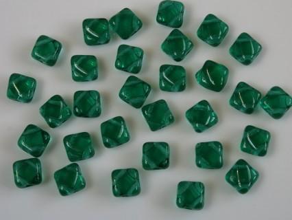 Margele sticla Cehia silky 6 mm, transparent emerald (10 buc)