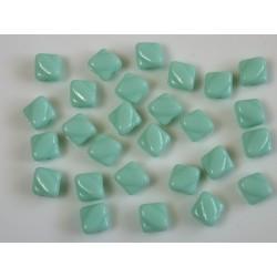 Margele sticla Cehia silky 6 mm, lt. green turquoise (10 buc)