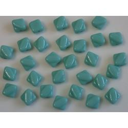 Margele sticla Cehia silky 6 mm, lt. turquoise (10 buc)
