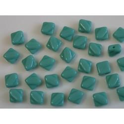 Margele sticla Cehia silky 6 mm, turquoise (10 buc)